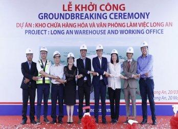 Dinco E&C khởi công dự án kho chứa hàng và văn phòng làm việc tại Long An