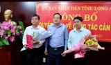 UBND tỉnh công bố các quyết định về công tác cán bộ