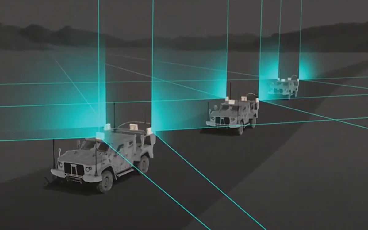 Đồ họa minh họa về hệ thống radar Spyglass chuyên phát hiện UAV ở cự ly gần. Nguồn: Numerica.