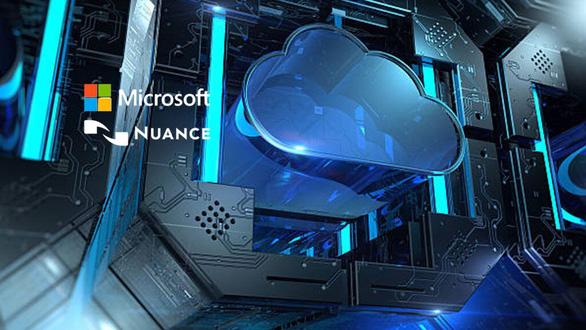 Logo của hai công ty Microsoft và Nuance - Ảnh: AI-TECHPARK