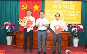 Bổ nhiệm Chánh Văn phòng Tỉnh ủy Long An và chỉ định Bí thư Huyện ủy Thủ Thừa