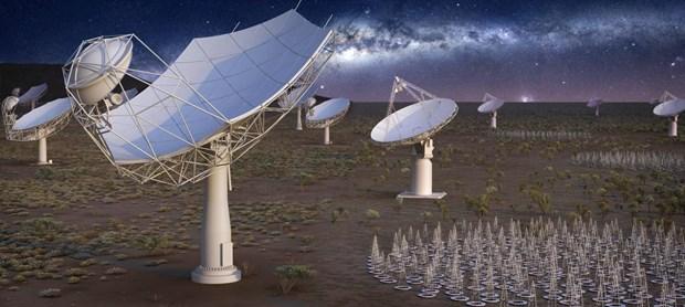 Dự án kính thiên văn vô tuyến SKA có sự hợp tác của 16 quốc gia. (Nguồn: SKA)