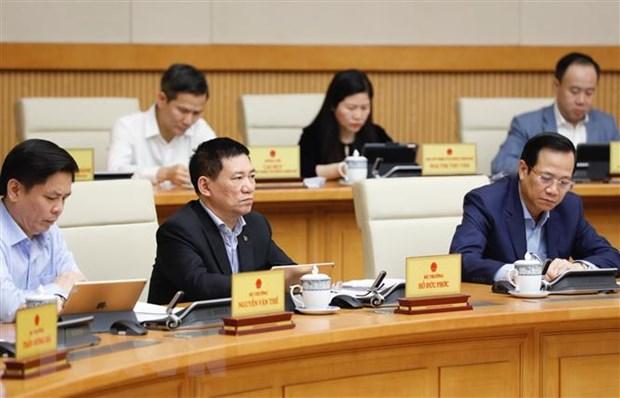 Các Bộ trưởng và thành viên Chính phủ tham dự phiên họp. (Ảnh: Dương Giang/TTXVN)