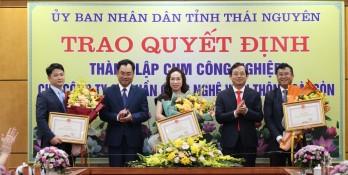 Saigontel được trao chứng nhận đầu tư 3 cụm công nghiệp tại Thái Nguyên
