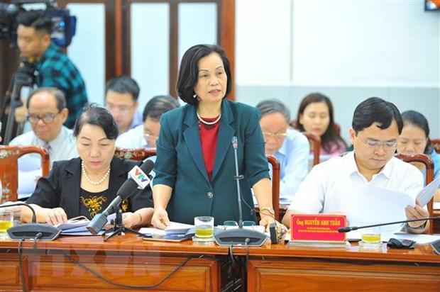 Đại biểu tham dự phát biểu tại hội nghị. (Ảnh: Minh Đức/TTXVN)