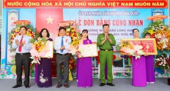 Trường Mẫu giáo Long Khê đạt chuẩn Quốc gia mức độ 1