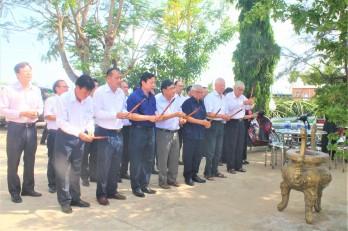 Khảo sát tiến độ thi công Đền thờ Liệt sĩ Tiểu đoàn 263