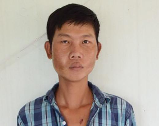 Công an huyện Châu Thành khẳng định Phan Văn Hiếu bị thương nặng đưa vào bệnh viện do tự gây tai nạn giao thông, chứ không có việc bị nhóm nào chém trong đêm - Ảnh: Tiến Vũ