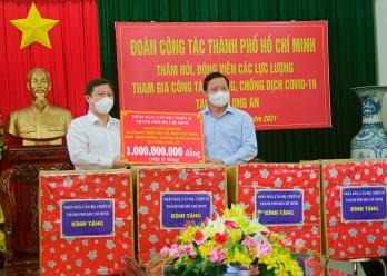 Đoàn công tác TP.HCM thăm các lực lượng phòng, chống dịch Covid-19 tại tỉnh Long An