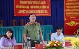 Thiếu tướng Lê Tấn Tới - Thứ trưởng Bộ Công an làm việc với Công an huyện Đức Hòa