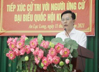 Ứng cử viên đại biểu Quốc hội khóa XV tiếp xúc cử tri Châu Thành