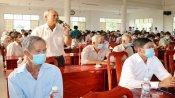 Ứng cử viên đại biểu Quốc hội khóa XV tiếp xúc cử tri huyện Tân Trụ
