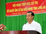 Ứng cử viên đại biểu HĐND tỉnh tiếp xúc cử tri huyện Bến Lức