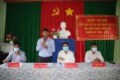 Ứng cử viên HĐND tỉnh tiếp xúc cử tri huyện Vĩnh Hưng