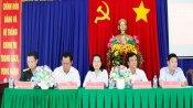 Ứng cử viên đại biểu HĐND tỉnh tiếp xúc cử tri tại huyện Cần Đước