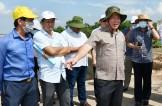 Chủ tịch UBND tỉnh khảo sát dự án Đường tỉnh 823D và đường cặp kênh Tây ở Đức Hòa