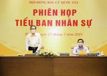 Phiên họp của tiểu ban nhân sự Hội đồng Bầu cử Quốc gia